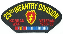 25th Infantry Division Korean War Veteran Patches